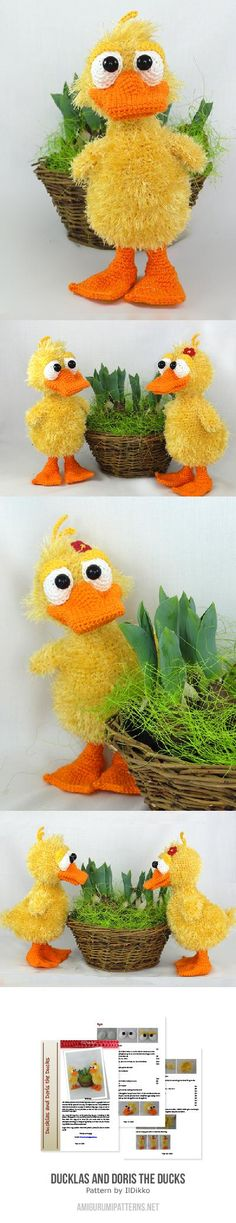 Found at Amigurumipatterns.net Ducklas and Doris the ducks