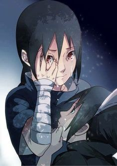 Naruto - Itachi and Sasuke Naruto Shippuden Sasuke, Sasuke E Itachi, Anime Naruto, Boruto, Kakashi Naruto, Sarada Uchiha, Sakura And Sasuke, Manga Anime, Anime Characters