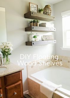 Craftaholics Anonymous® | DIY Floating Shelves