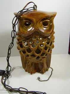 Vintage Hanging Owl Lamp from peanutmm on Etsy.