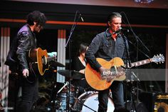 Robert Levon Been and Peter Hayes of Black Rebel Motorcycle Club perform at Education Through Music-Los Angeles' 10th Anniversary Benefit Gala at Skirball Cultural Center on December 6, 2015 in Los Angeles, California.