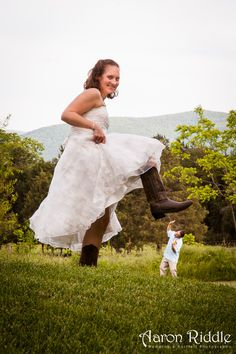 A fun photo taken at the request of the bride and groom at yesterday's wedding at The Barn at Aspen Grove. Congrats to Michael and Crystal!