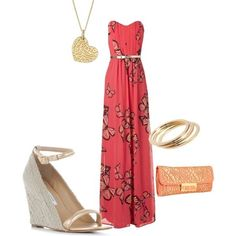 summer wedding guest, created by frick54220 on Polyvore