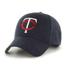 Minnesota Twins Baseball Hat MLB Adjustable Black Cap White Red Team Logo #47Brand #MinnesotaTwins
