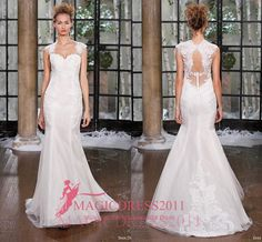 Morden Lace Wedding Dresses Illusion Bolice Beach Bridal Gowns 2016 Mermaid Sweetheart Sheer Straps Garden Vintage Custom Made Online with $133.83/Piece on Magicdress2011's Store | DHgate.com