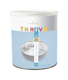 THRIVE Sour Cream Powder - You will want to keep THRIVE Sour Cream Powder in your pantry at all times so that you can make entrees, sides, and desserts at a moments notice. THRIVE Sour Cream Powder blends into the perfect creamy consistency just by adding water.