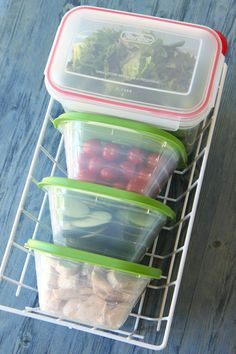 how to make a salad bar for your fridge.