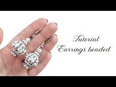 #МК - Объемные серьги из бисера и бусин | #Tutorial - Surround earrings from beads - YouTube