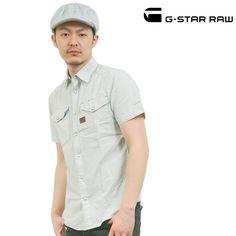 G-STAR RAW (ジースターロー) シャツ ミント 半袖 sh-gs-122