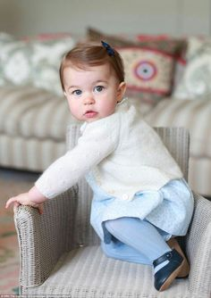 Princess Charlotte gazes at the camera in this photograph taken by her mother the Duchess of Cambridge to mark her first birthday May 2...