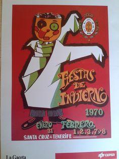 Cartel de las Fiestas de Invierno de Santa Cruz de Tenerife, año 1970