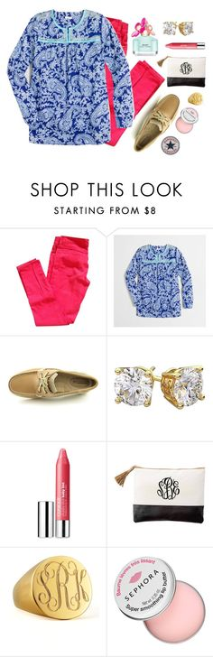 """""""Tomorrow is the Lilly Pulitzer after party sale!"""" by margaretlorraine02 ❤ liked on Polyvore featuring J.Crew, Sperry Top-Sider, Diamondsy, Michael Kors, Clinique, Sarah Chloe and Sephora Collection"""