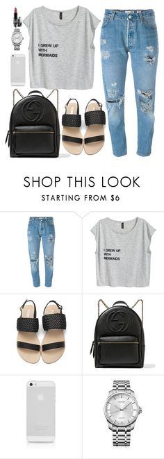 """""""Untitled #1691"""" by anarita11 ❤ liked on Polyvore featuring Levi's, Gucci, Calvin Klein and MAC Cosmetics"""