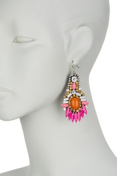 G-Lish Multicolor Embellished Statement Earrings by G-Lish on @nordstrom_rack