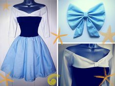71713982 Ariel's Blue Land Dress by Lolanova Diy Couples Costumes, Couple Halloween  Costumes, Halloween Dress