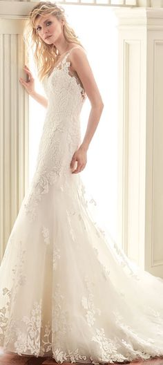 $203.09-Beautiful $ Elegant Scoop Long Appliqued Lace Wedding Dress with Open Back.  http://www.ucenterdress.com/scoop-long-appliqued-lace-wedding-dress-with-court-train-and-v-back-pMK_705832.html.  Buy best wedding dresses, Lace wedding dress, modest wedding dress, strapless wedding dress, backless wedding dress, wedding dress with sleeves, mermaid wedding dress, plus size wedding dress, We have great 2016 fall Wedding Dresses on sale at #UCenterDress.com today!