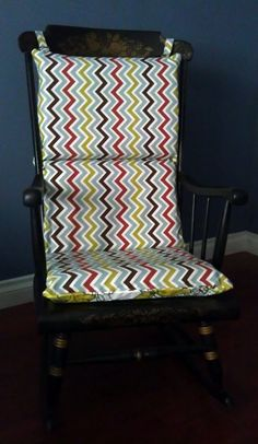 Rocking Chair Cushion - Missoni Chevron Floral
