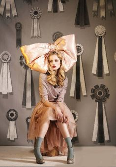 Am I Dreaming? | Bow by Laura Kranitz Millinery Arts | Photographed by Autumn de Wilde for Paper Magazine