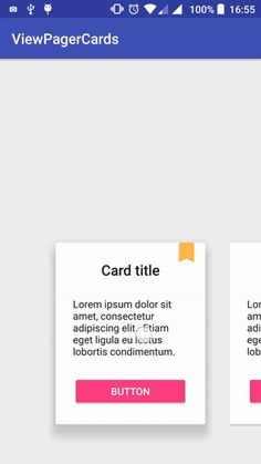 ViewPagerCards – MaterialUp