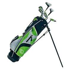 Junior Golf Clubs Set Of 9 Stand Bag Glove Driver Hybrid Irons Putter Head Cover