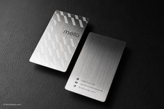 Order luxury metal business cards in as little as business days with our stainless steel template! Templates are FREE for RockDesign print customers! Metal Business Cards, Premium Business Cards, Luxury Business Cards, Credit Card Design, Card Printing, Hairstylist Business Cards, Branding, Name Cards, Modern Minimalist