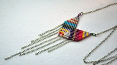 Single Chevron Necklace Bright by AMiRAjewelry on Etsy