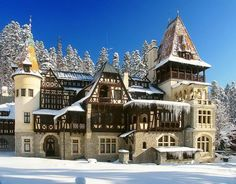 Queen Maries Castel in Sinaia, Romania Peles Castle, Medieval Castle, Beautiful Castles, Beautiful Places, Romanian Castles, Places Around The World, Around The Worlds, Visit Romania, Grand Homes