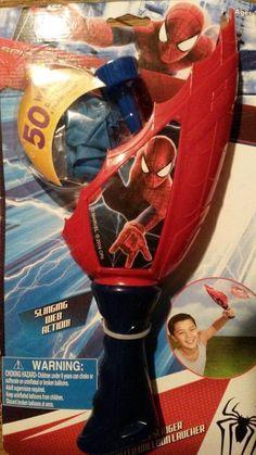 2014 Marvel Kids Spider-Man 2 Slinger Water Balloon Laucher Ages 3+ Boys & Girls #Marvel