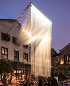 Light Waterfall in Shanghai by CTHM Architects