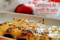 Cocina Varoma: Canelones de pato, manzana y foie.