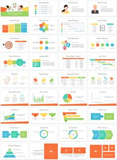 Staff meeting PowerPoint template with 36 pre-designed slides. This template can be used for presentations on many topics including; project management, teamwork, coworking, business meeting, etc.