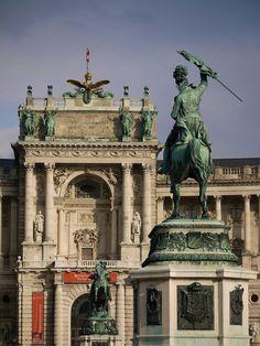 A part of Austrias long history, the Heldenplatz - Neue Burg in Vienna, Austria. Visit Austria, Vienna Austria, Archduke, Heart Of Europe, Austro Hungarian, Central Europe, Culture Travel, Places Around The World, Alps