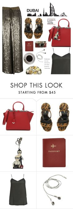 """when in Dubai"" by italist ❤ liked on Polyvore featuring Fendi, Yves Saint Laurent, Dolce&Gabbana, FOSSIL, Leica, Bunn, Blumarine and P.A.R.O.S.H."