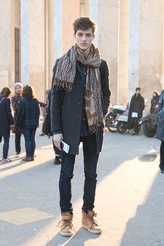 #coat #scarf #shoes #Fashion #Menswear