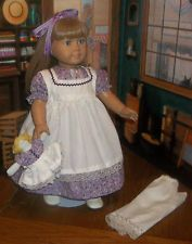 "The dolly, too.    ""A DOLL'S LOVE"" CALICO PIONEER CLOTHES MADE FOR 18"" AMERICAN GIRL, KIRSTEN"
