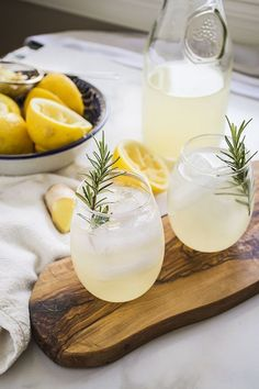 Naughty or Nice Ginger Lemonade // Port and Fin