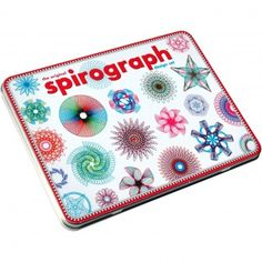 This Spirograph Design Tin Set might make a good travel version of Robert Howsare's Drawing Apparatus or Eske Rex's Pendulum-Powered Drawing Machine. Math + art = hours of visual exploration. Buy this set Original Spirograph, Spirograph Art, Drawing Machine, For Elise, Kids Pages, Math Art, Christmas Gifts For Kids, Christmas 2014, Kids Gifts