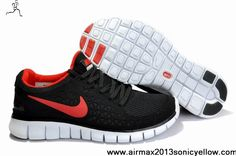Latest Listing Cheap Black Red Nike Free Run 395912-008 Mens Casual shoes Store