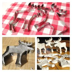 Papermache moose ornaments - use other cookie cutters to create more fun ornaments. or with the alphabet cookie cutters too Christmas Deco, Diy Christmas Ornaments, Homemade Christmas, Christmas Projects, Holiday Crafts, Holiday Fun, Paper Mache Crafts, Paperclay, Craft Projects For Kids