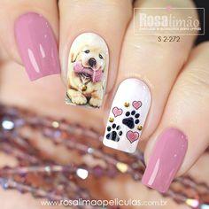 Animal Nail Designs, Cute Nail Designs, Nail Art Hacks, Gel Nail Art, Trendy Nails, Cute Nails, Hair And Nails, My Nails, Latest Nail Designs