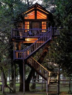 My tree house where I will have slumber parties with my sisters. We will knit, eat & gossip.