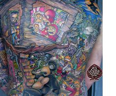 Epic Simpson's Treehouse of Horror Tattoo.