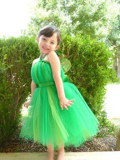 Tinkerbell Costume, Tinkerbell Dresses, Green Fairy Tutu Dress with Wings, Tinkerbell Tutu, Fairy Princess Tutu, Fairy Toddler, Halloween by KissHugDesign on Etsy https://www.etsy.com/listing/232130671/tinkerbell-costume-tinkerbell-dresses