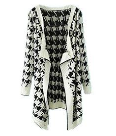 Sheinside® Women's White Long Sleeve Houndstooth Knit Cardigan (One Size, White) Sheinside http://www.amazon.com/dp/B00NL8QPUM/ref=cm_sw_r_pi_dp_cSdtub1AYRPTM