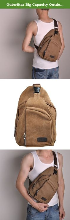OuterStar Big Capacity Outdoor Sports Casual Canvas Unbalance Backpack Crossbody Sling Bag Shoulder Satchel Waist Bag Chest Pack Portable Travel Hiking Bags For Men and Women. OuterStar Casual Canvas Sling Backpack Chest Bag for Men Woman (Coffee/Grey/Army Green) Features: 1.Compact and light-weight and big capacity for many kinds of stuffs 2.Nice little bags keep your wallet,ID card and other small personal belongings safe 3.Very convenient for outdoor sports 4.Adjustable shoulder strap...