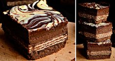 Základ: 260 gtmavé sušenky 100 gmáslo Krém: 500 gjemný tvaroh 100 gmoučkový cukr 1 ksvejce 40 gkakao 1 lžičkavanilkový extrakt Dále budeme potřebovat: 1 ksvejce 1 lžícemléko 6 kskeks Siesta XXL (1 ks = 52 g) Poleva: 100 ghořká čokoláda 100 mlsmetana ke šlehání