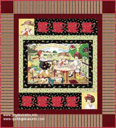 free pattern using Mary Engelbreit fabric . We all love Mary E don't we ??? YES !!!!