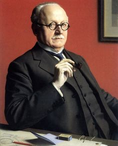 """""""Edwin Lutyens as Master of the Art Workers' Guild by Meredith Frampton 1933 ( Architect. Gertrude Jekyll collaborated on the landscape portion of many of Lutyens' commissions. Edwin Lutyens, Tate Gallery, Irish Art, Found Art, Best Portraits, Art Deco, Vintage Artwork, My People, Portrait Art"""