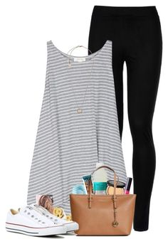 """""""Panda panda panda """" by fashionpassion2002 ❤ liked on Polyvore featuring Wolford, Soft Joie, Eos, Dogeared, Too Faced Cosmetics, tarte, Michael Kors and Converse"""