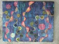 experiment silk fusion on canvas, Fusion Classes at Art Bazaar and Columbia Career Center